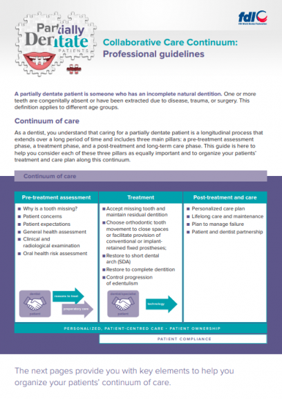 Collaborative Care Continuum_Professional guidelines_chairside guides