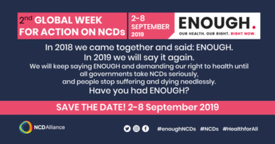 FDI celebration_2nd Global Week for Action on NCDs
