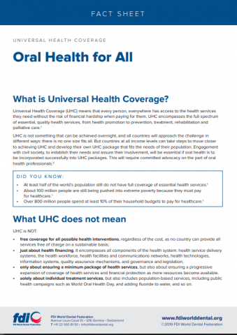 Universal Health Coverage_Oral health for all_fact sheets