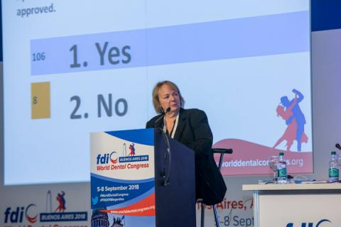 FDI Speaker of the General Assembly Susie Sanderson