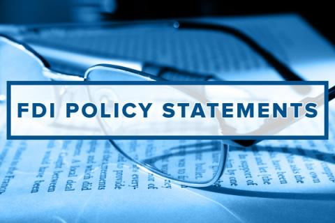 FDI policy statements